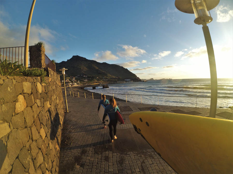 sunset-surfing experience-madeira