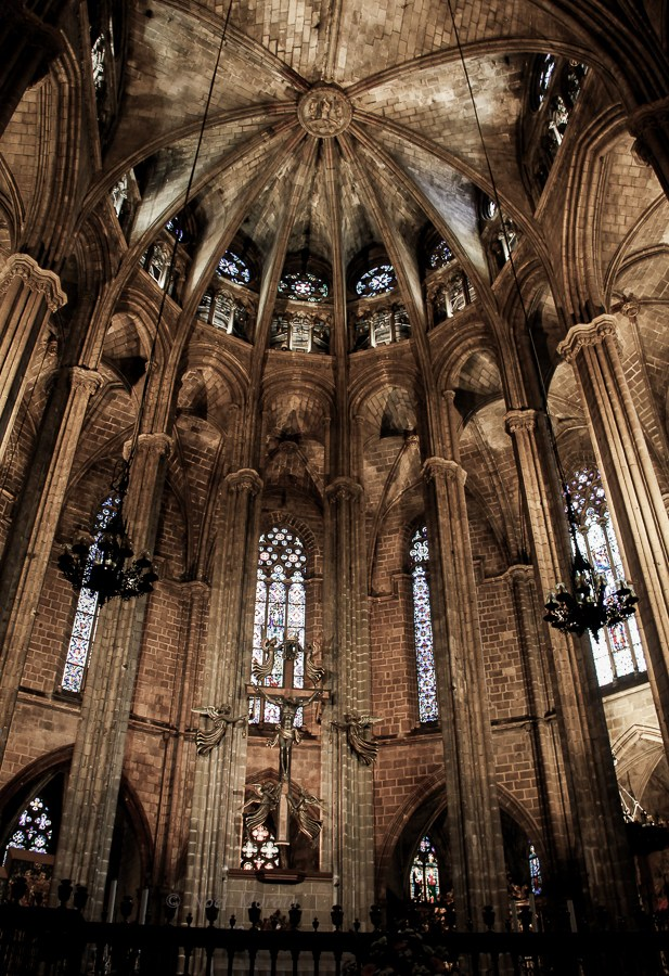 Barcelona cathedral in the Bari Gotic