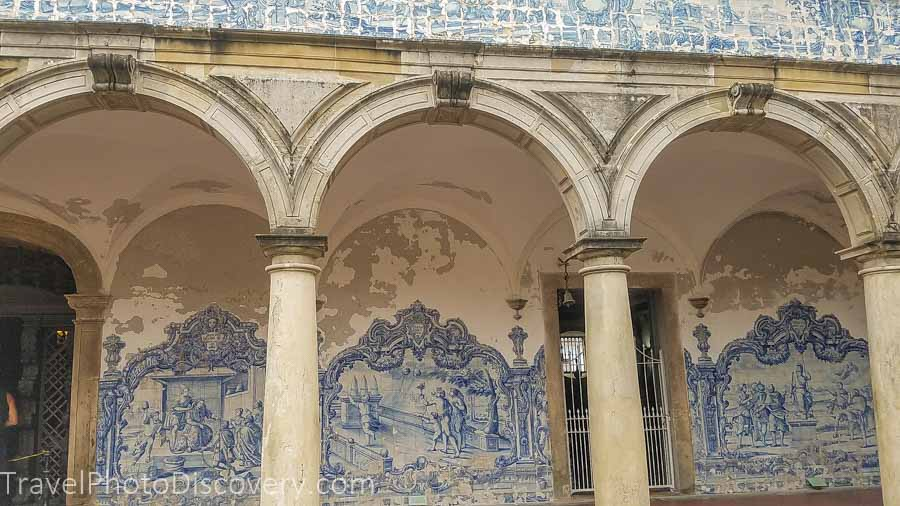 Blue tile work from Portugal of the Igreja e Convento de São Francisco