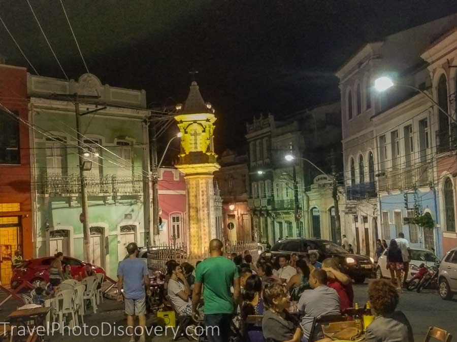 Exploring Pelourinho at night time