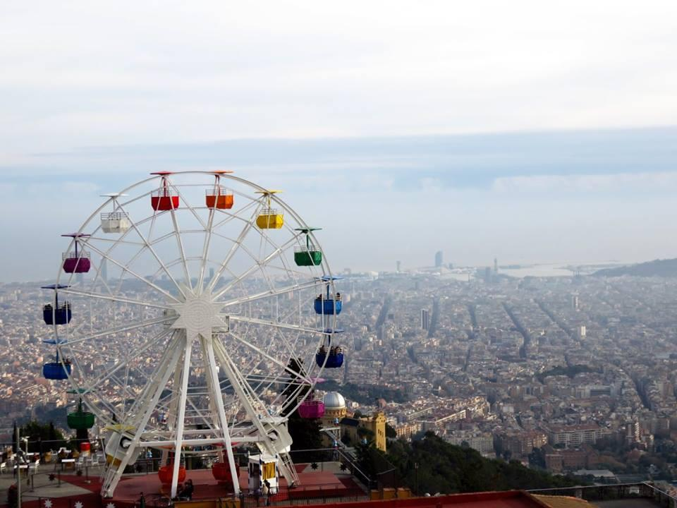 Tibidabo skywalk in Barcelona