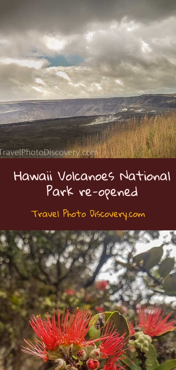 Pin for Hawaii Volcanoes National Park re-opened