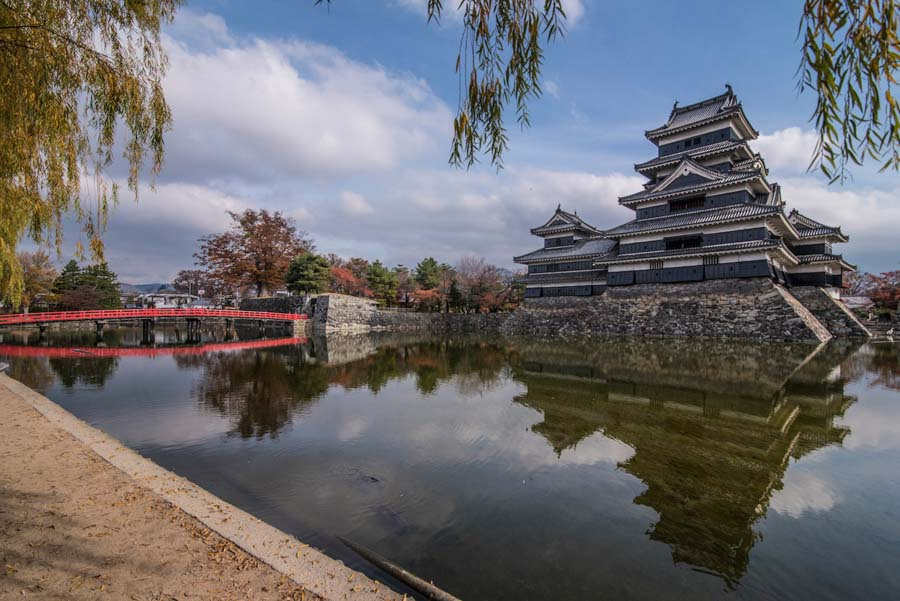 Matsumoto-Castle in the Japanese alps