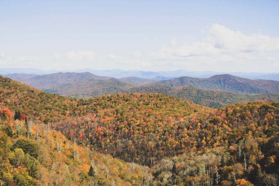 Smoky mountains for autumn season