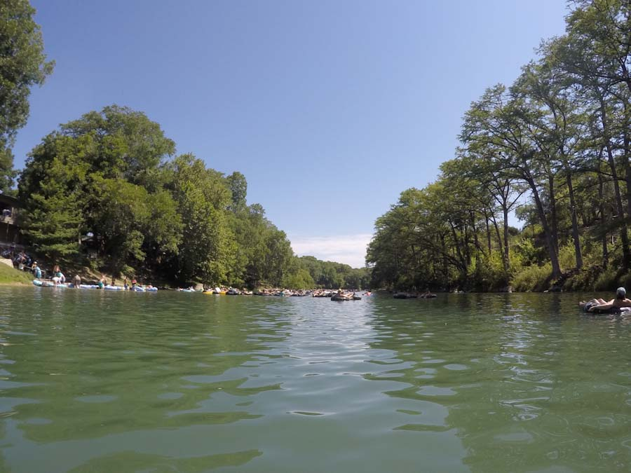 Floating on the Gaudalupe river