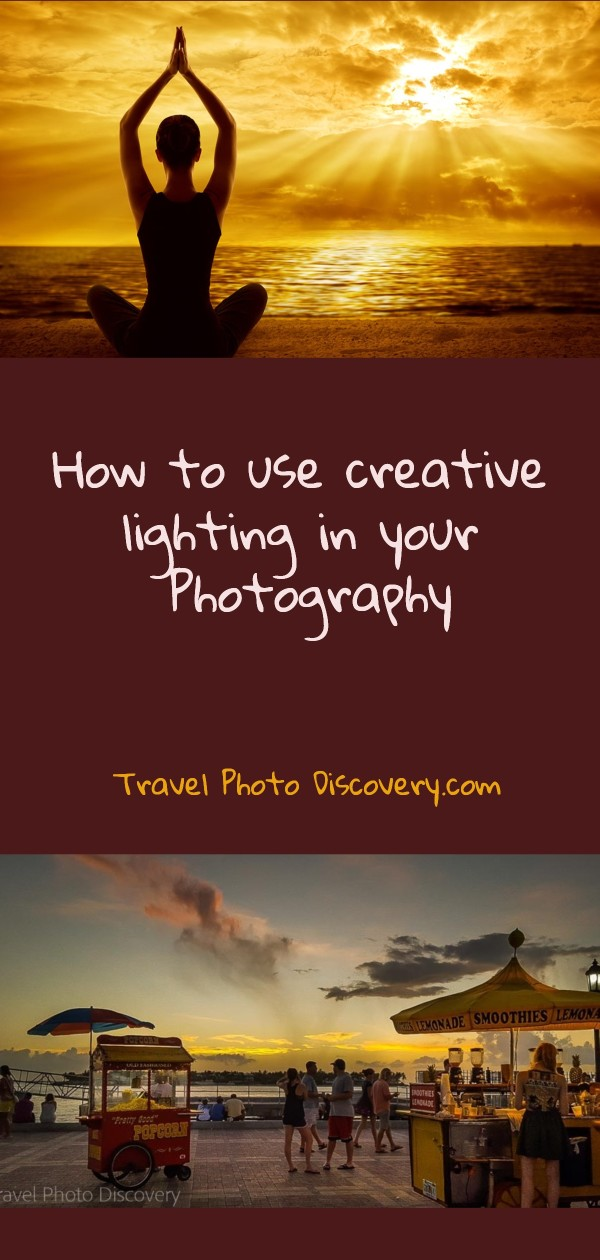 Pinterest pin How to use creative lighting in your photography