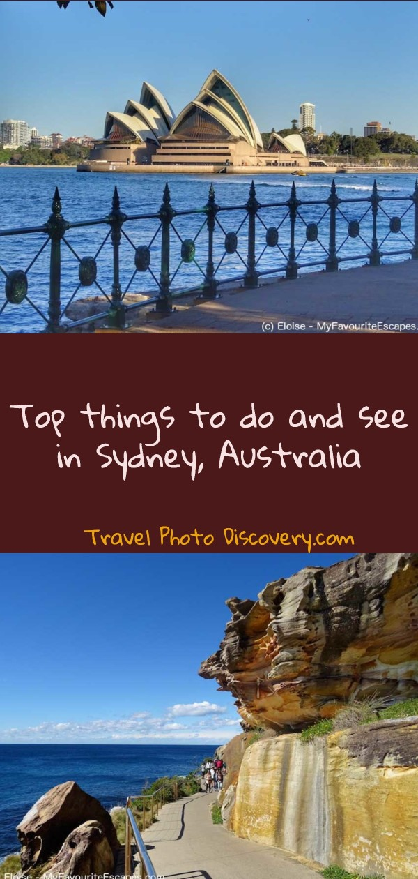 Pinterest image Top things to do and see in Sydney Australia