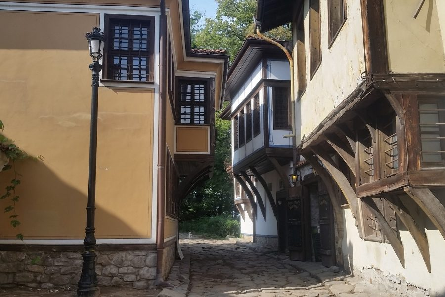 Old Town street in Plovdiv