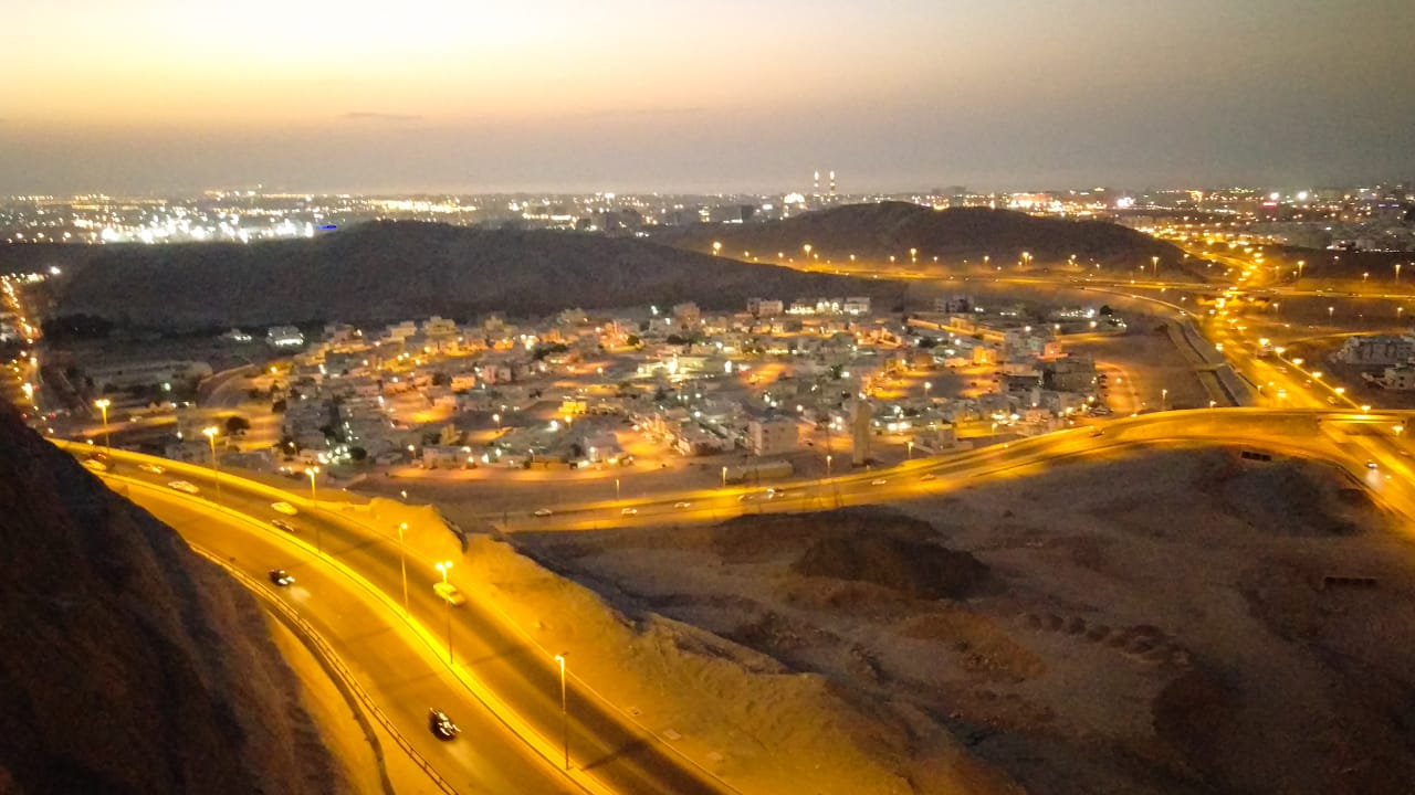 night city view in Muscat