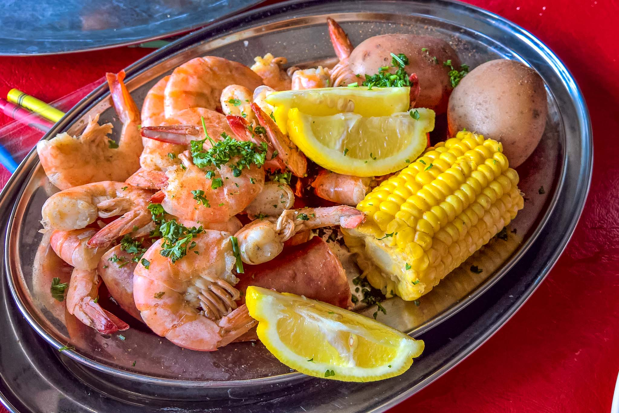 Cajun seafood boil in New Orleans