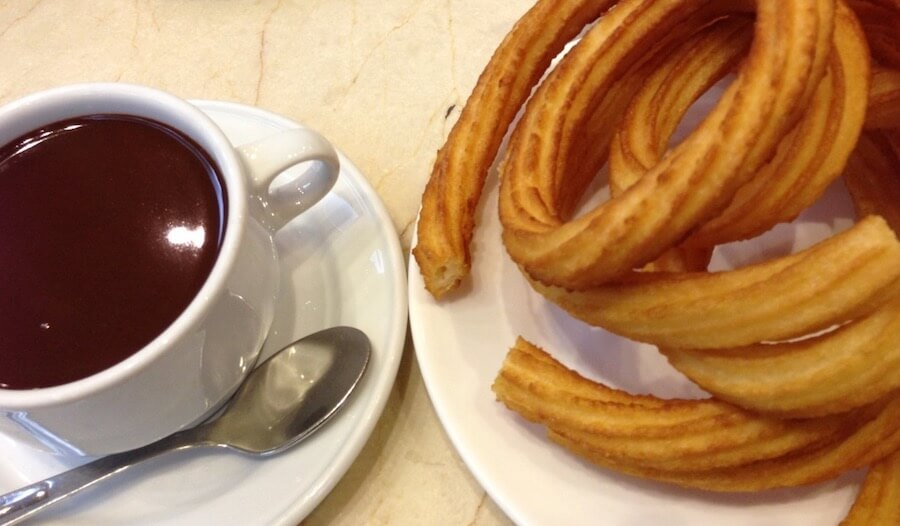 churros-chocolate in Madrid