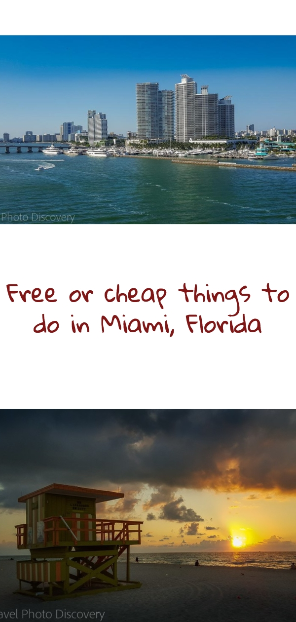 Free or cheap things to do in Miami Florida