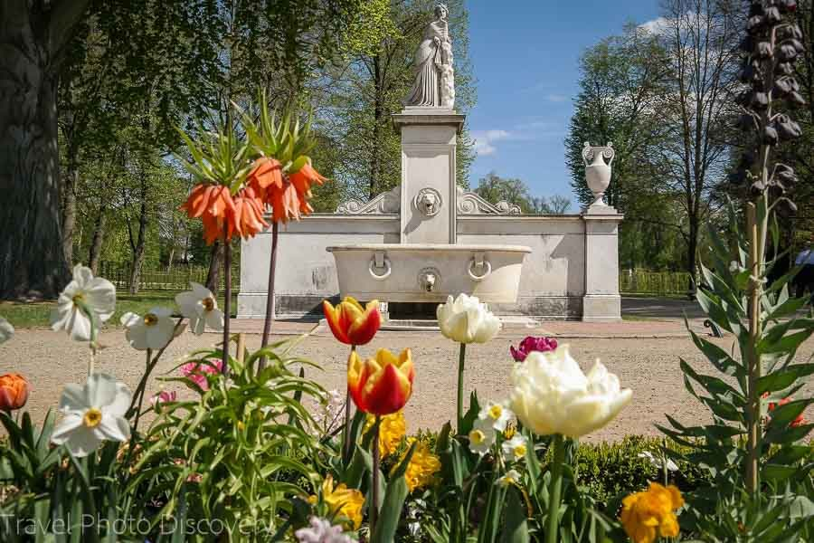 Sanssouci gardens in spring time