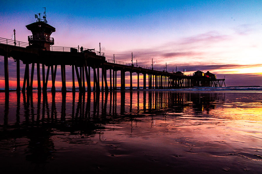 Huntington-Beach places to go in California