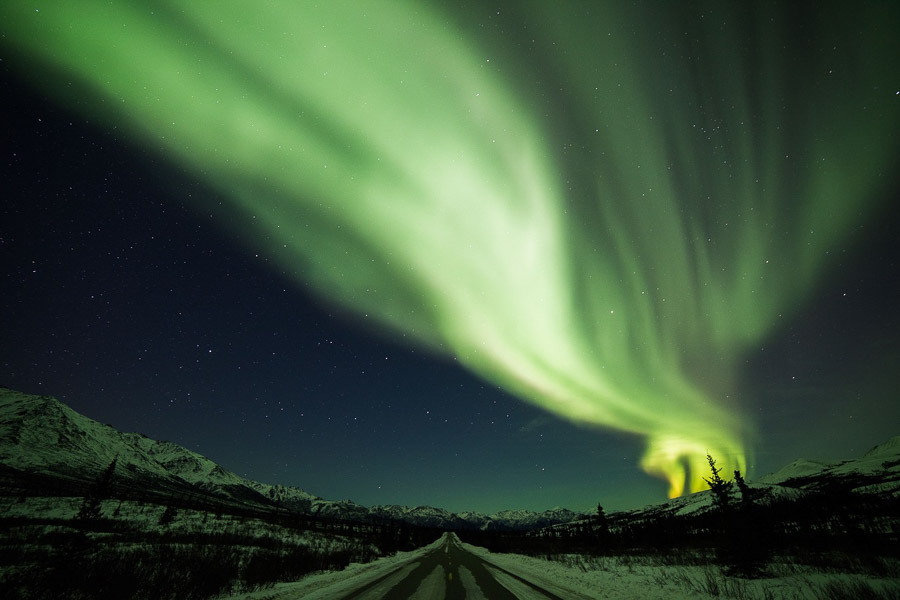 aurora-borealis-northern lights in alaska