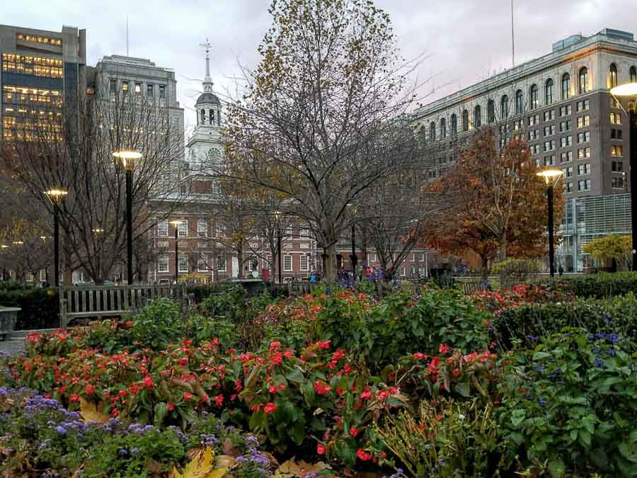Independence Hall on a late fall day