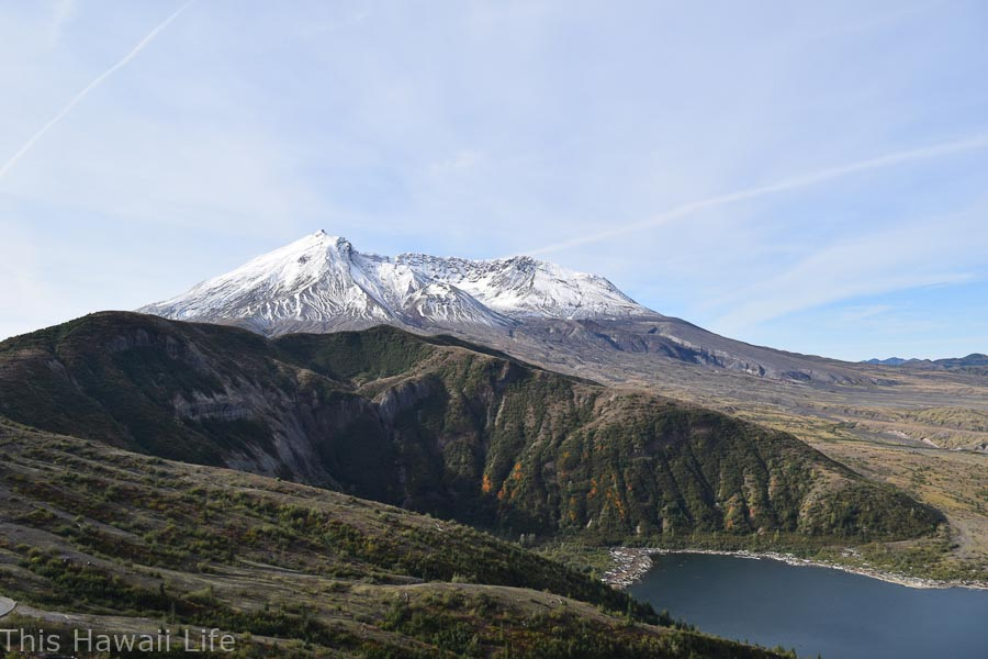 Mt St Helens in fall time