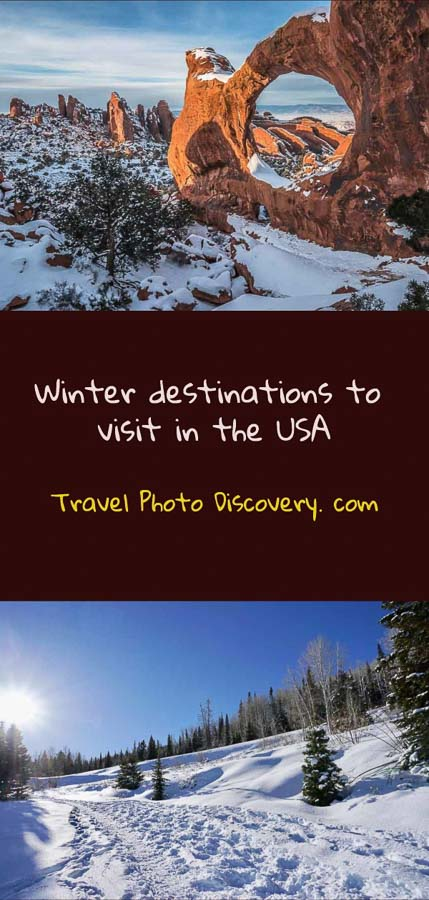Pinterest Winter destinations to visit in the USA