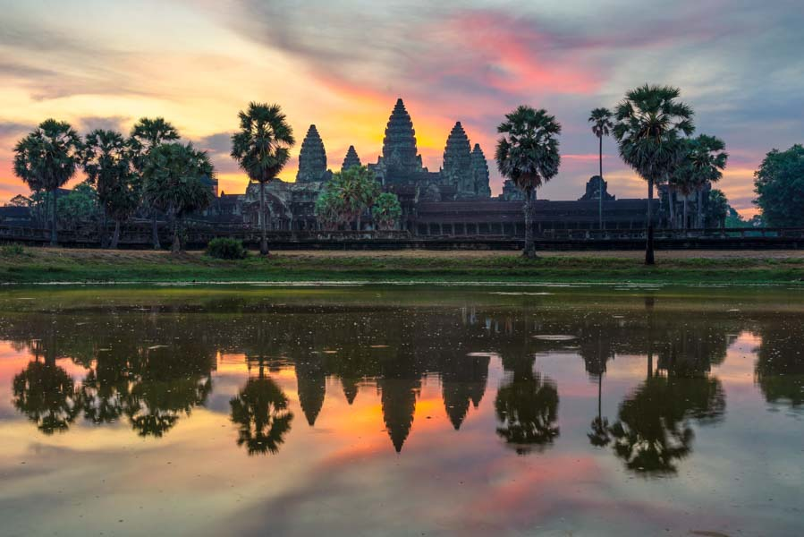 Beautiful Angkor Wat at sunrise