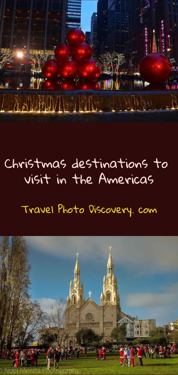 Best places to spend Christmas in the Americas pinterest