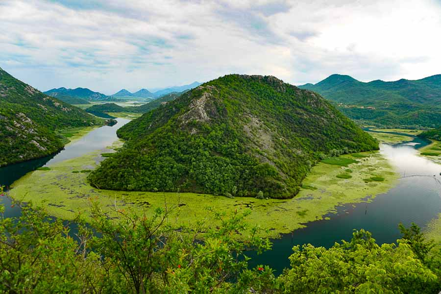 Lake Skadar viewed from Pavlova Strana