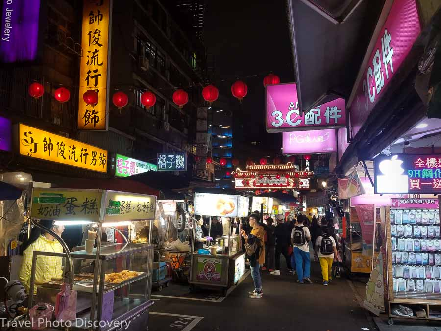 exploring the night markets of Taipei