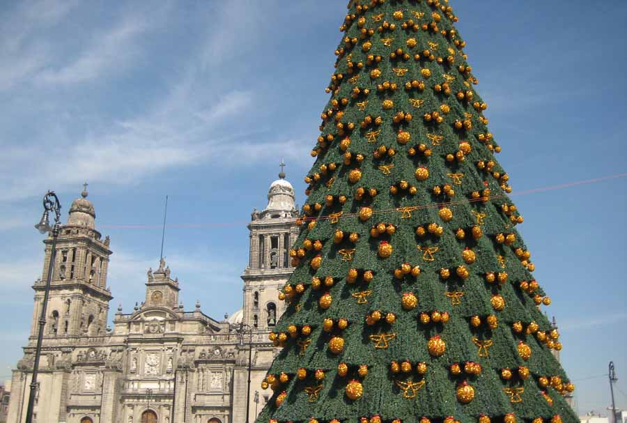 mexico city in Christmas time