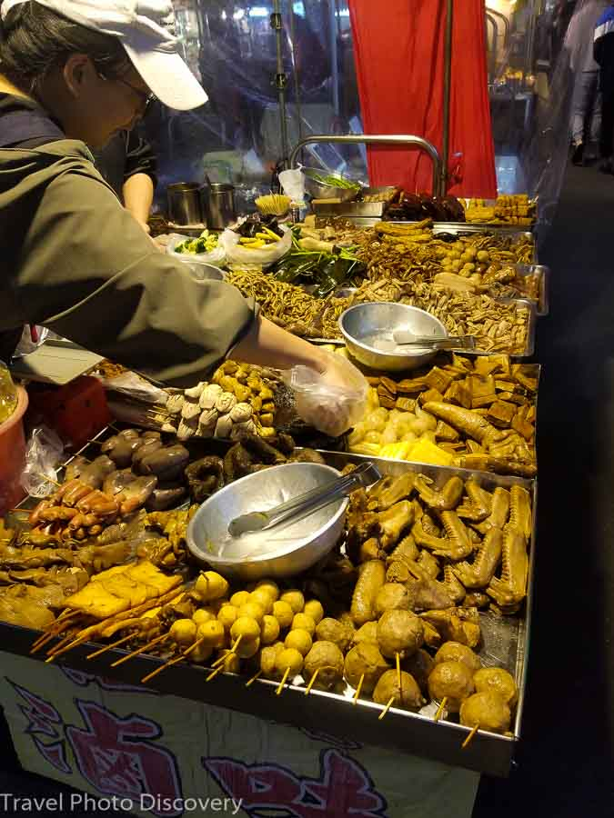 Mixed intestine street food vendor in Taiwan
