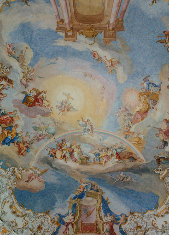 fresco inside church of the wies