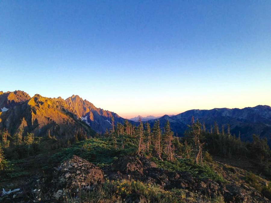 sunset in olympic national park