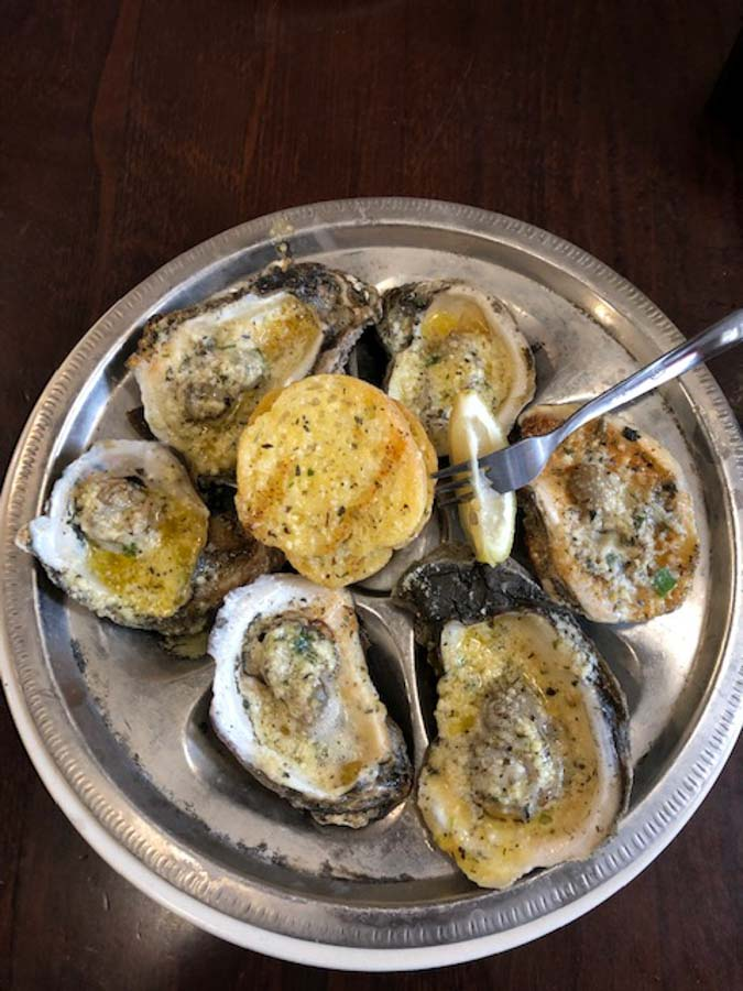 chargrilled oysters from New Orleans