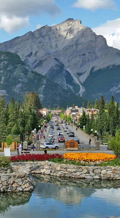 Town of Banff from Cascade Gardens