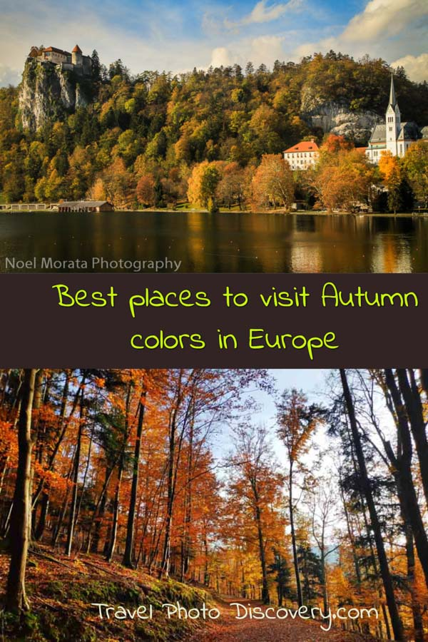 Pinterest pin Best places to visit in autumn in Europe