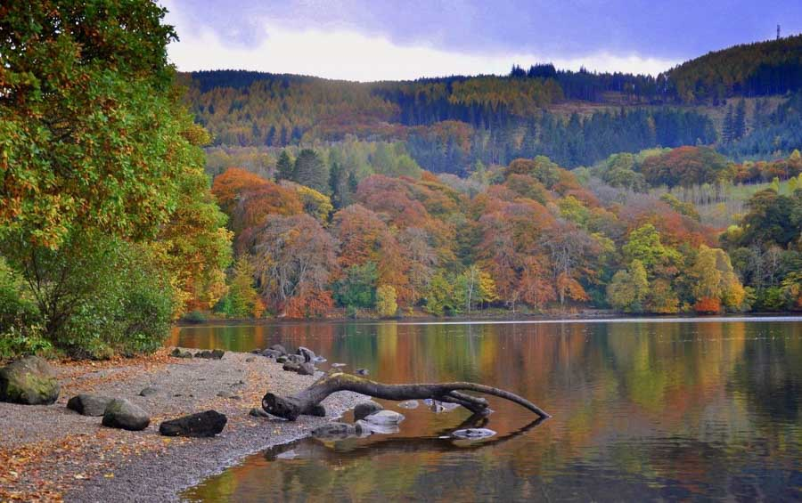 Perthshire Scotland in fall time