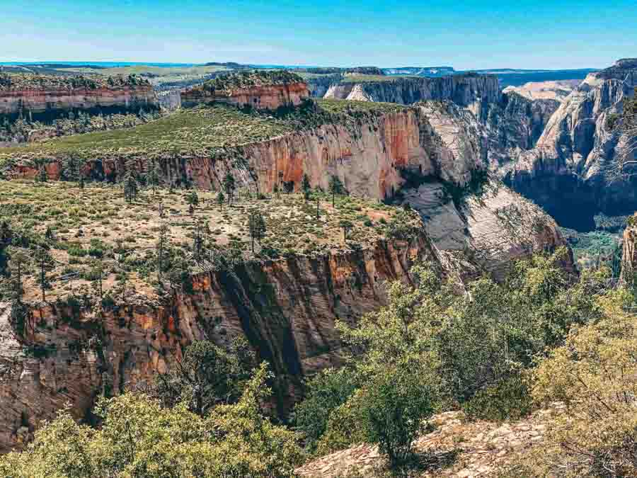 West Rim Trail in Zion National Park in the Spring