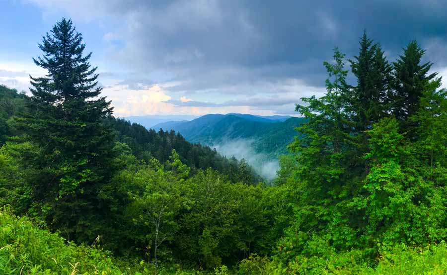 Newfound Gap Road in Great Smoky Mountains National Park