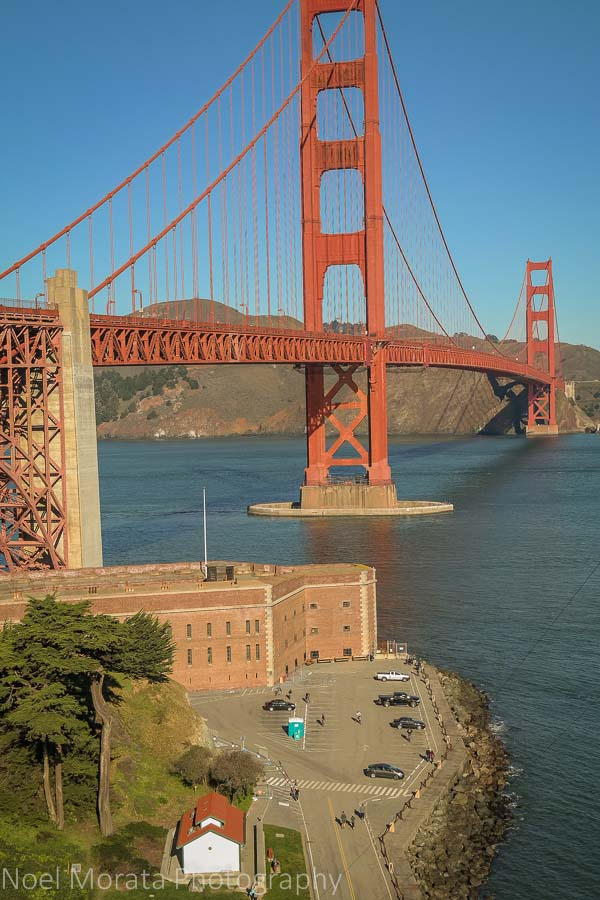 Explore Fort Point below the Golden Gate Bridge and explore the historic fort that used to protect the entrance to San Francisco Bay