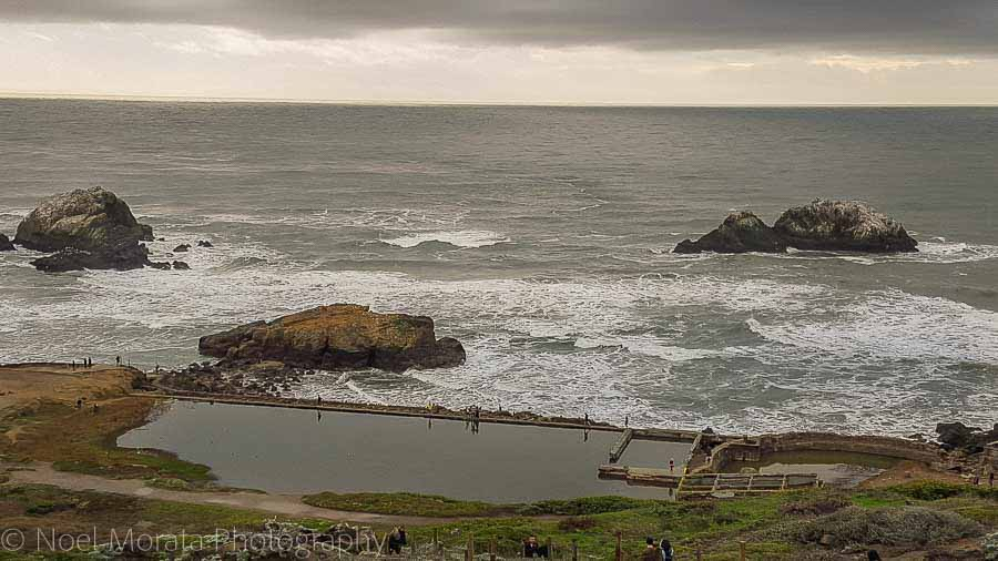 Check out the Sutro bath pools and tunnel view to the coastal areas of Land's End