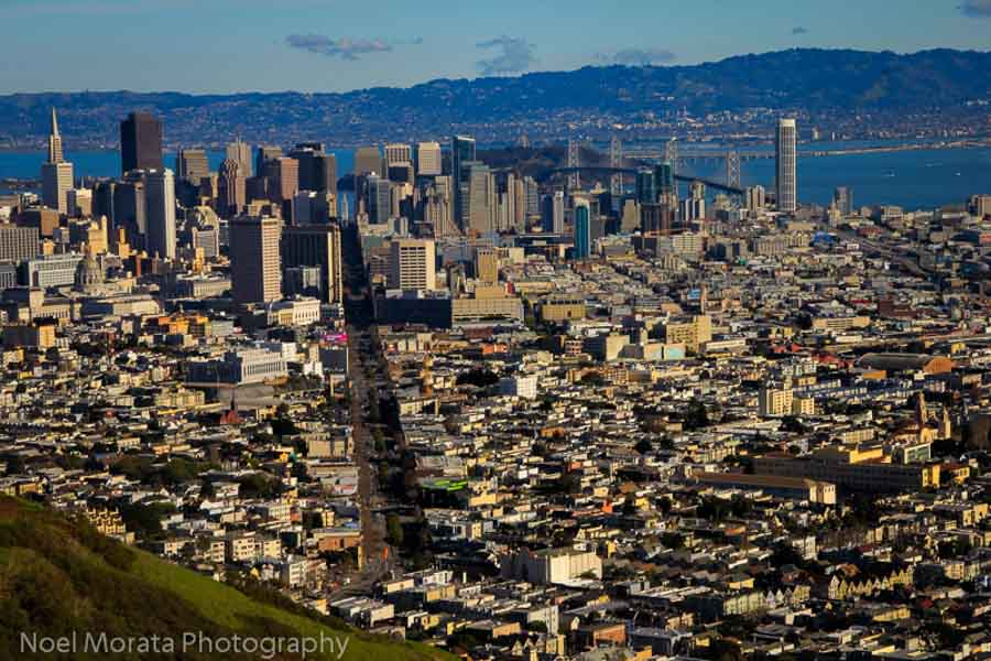 Hike or bike up to Twin Peaks for amazing views of the entire city below