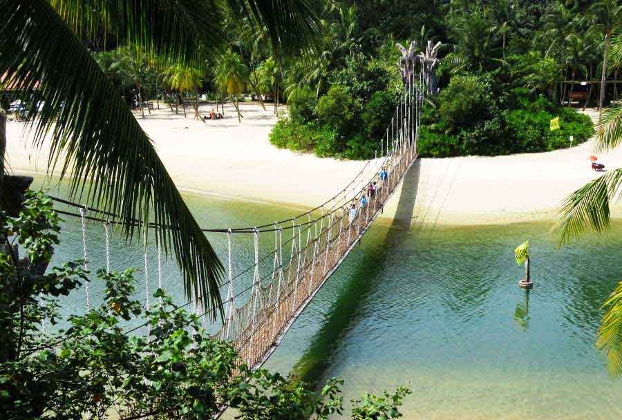 Relax at the beaches at Sentosa and visit Fort Siloso