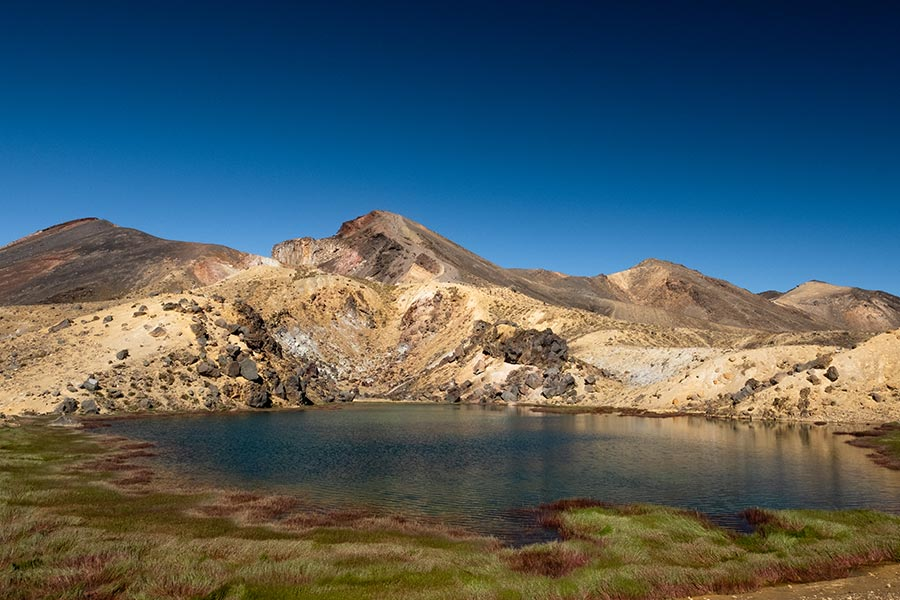 Volcanic landscapes found on the Tongariro Alpine Crossing and Northern Circuit